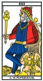 L'Empereur - Tarot de Marseille