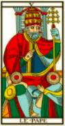 Le Pape - Tarot de Marseille