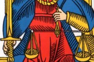 La justice - Arcane VIII du Tarot de Marseille